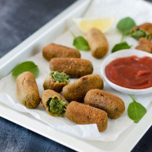 Spinach and Pine Nuts Croquettes