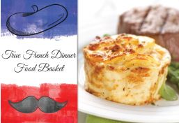 A French Dinner Food Basket